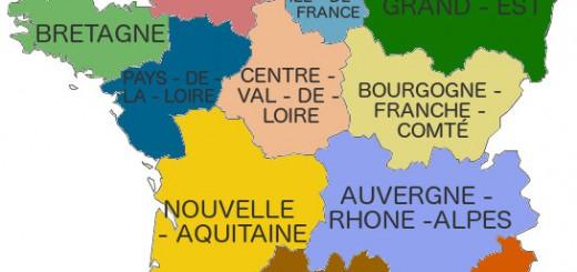 Carte nouvelles régions france