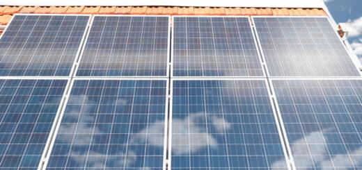 Fuite sous des panneaux solaires