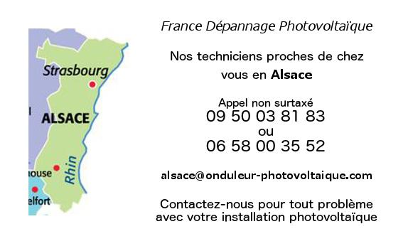 Depannage onduleurs photovoltaiques réseau Alsace