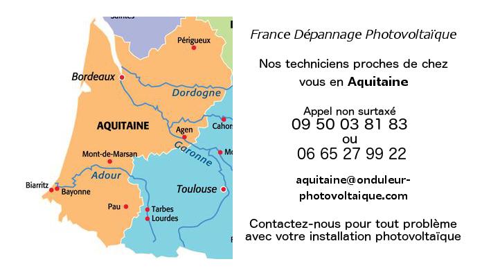 Depannage onduleurs photovoltaïques réseau Aquitaine