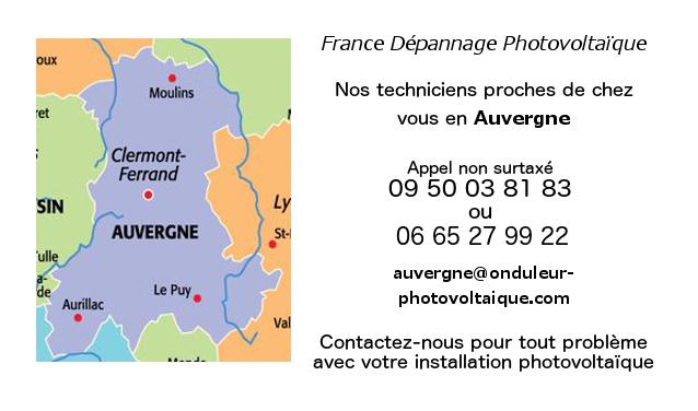 Depannage onduleurs photovoltaiques réseau Auvergne