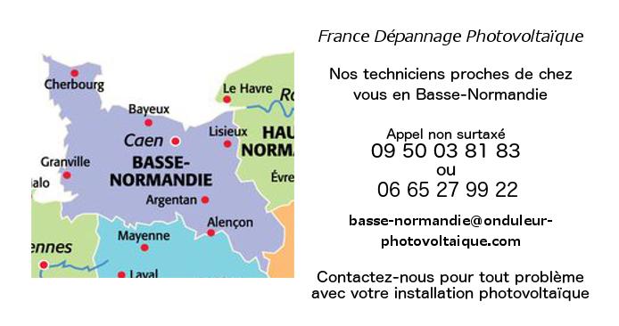 Depannage onduleurs photovoltaïques réseau Basse-Normandie