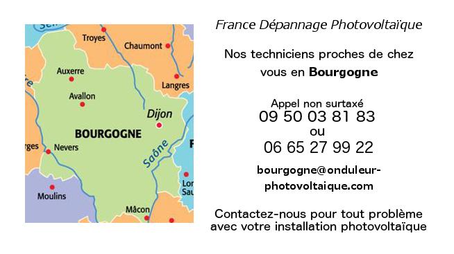 Depannage onduleurs photovoltaiques réseau Bourgogne