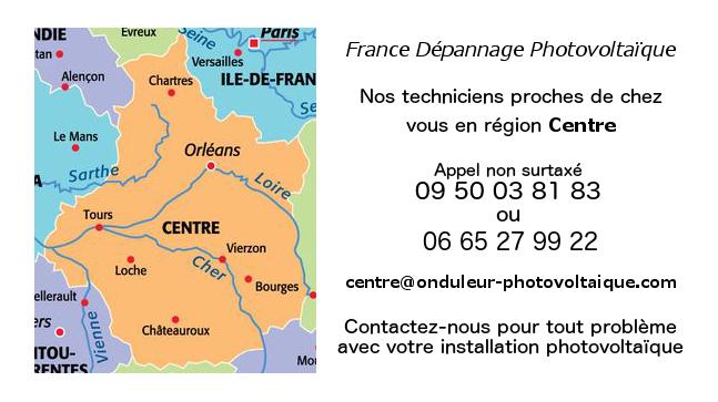 Depannage onduleurs photovoltaïques réseau Centre