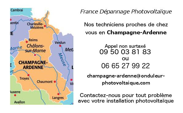 Depannage onduleurs photovoltaiques réseau Champagne-Ardenne