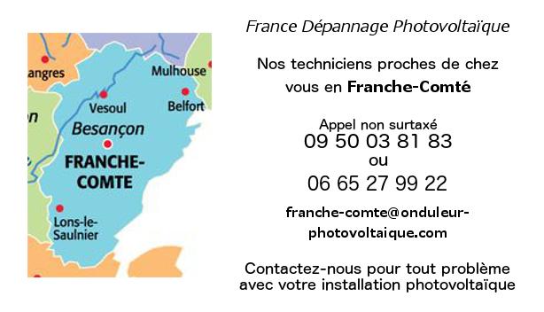 Depannage onduleurs photovoltaïques réseau Franche-Comté