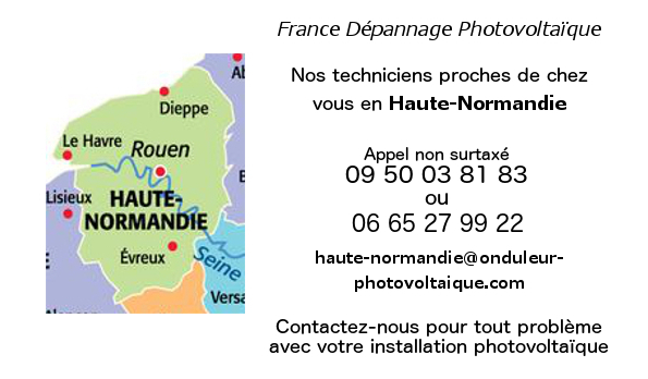 Depannage onduleurs photovoltaiques réseau Haute-Normandie