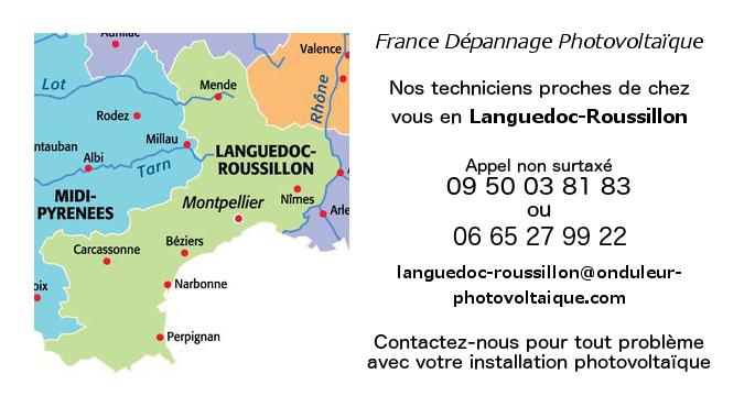Depannage onduleurs photovoltaiques réseau Languedoc-Roussillon