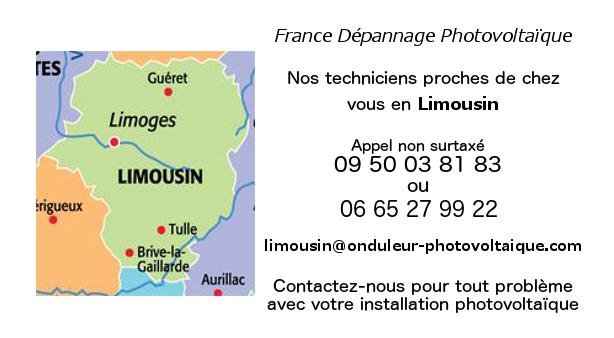 Depannage onduleurs photovoltaïques réseau Limousin