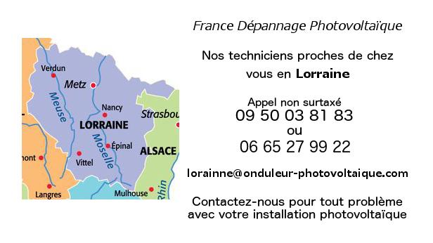 Depannage onduleurs photovoltaiques réseau Lorraine