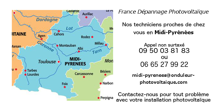 Depannage onduleurs photovoltaiques réseau Midi-Pyrenees