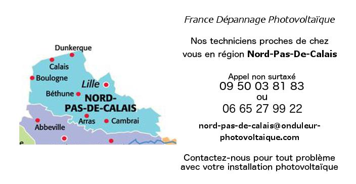 Depannage onduleurs photovoltaïques réseau Nord-Pas-de-Calais