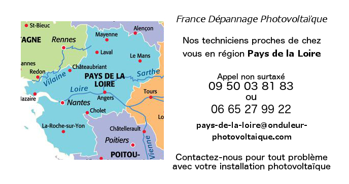Depannage onduleurs photovoltaïques réseau Pays-de-la-Loire