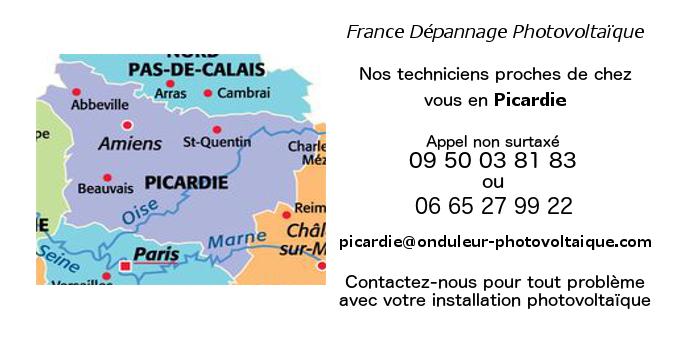 Depannage onduleurs photovoltaïques réseau Picardie