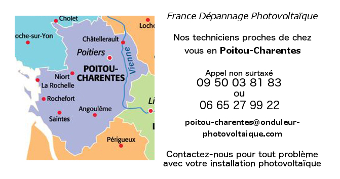Depannage onduleurs photovoltaïques réseau Poitou-Charentes