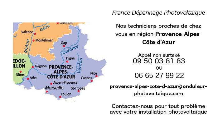 Depannage onduleurs photovoltaïques réseau Provence Alpes Côte d'Azur