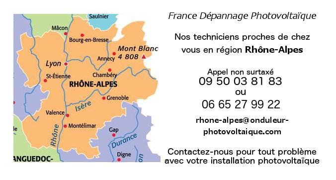 Depannage onduleurs photovoltaiques réseau Rhone-Alpes
