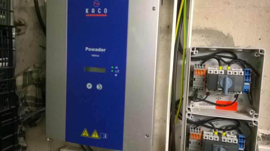 Depannage onduleur photovoltaique Kaco Powador