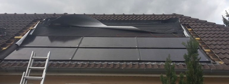 Toiture photovoltaique réparée